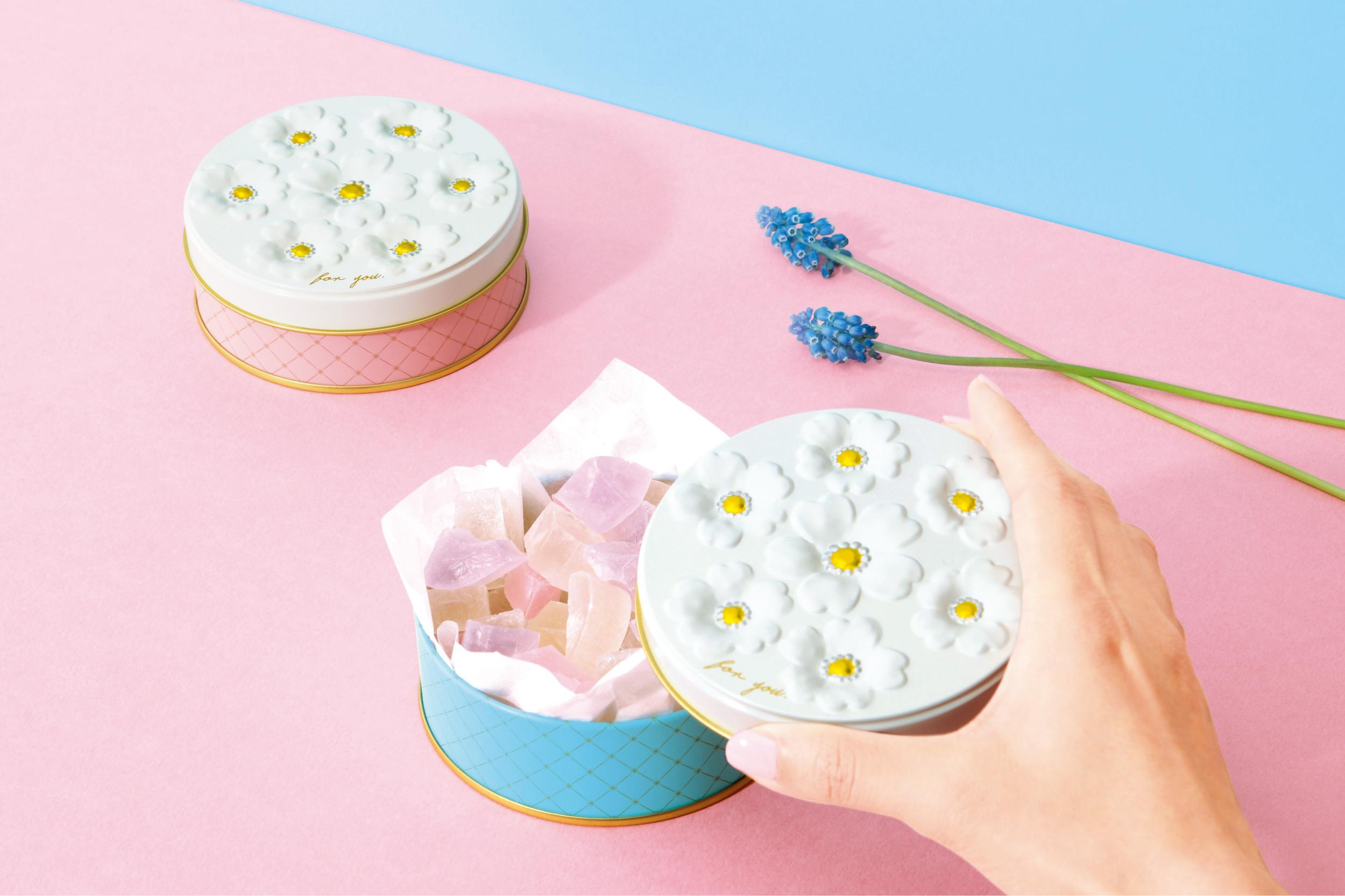 お菓子のミカタ ブーケ缶