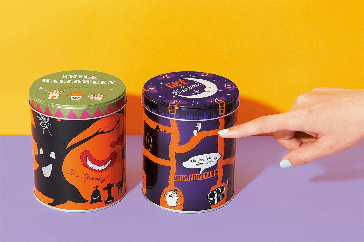 お菓子のミカタ スマイル缶